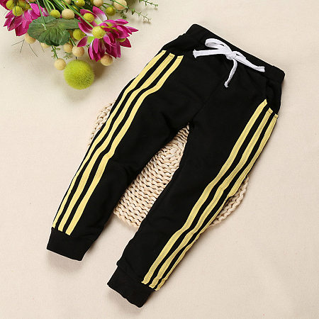 Sportive Style Stripe Pattern Kids Pants