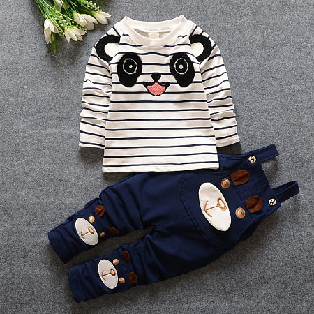 Cartoon Baby Girls Boys Suits, navy_blue, 16K03ROM01ZY
