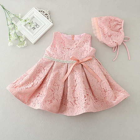 Baby Lace Bowknot Chrisom