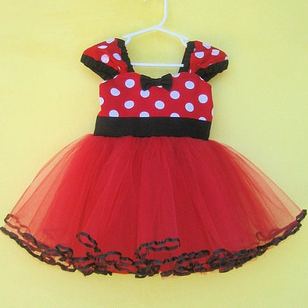 Adorable Red Dot Chiffon Dress (Without Hair Accessory)
