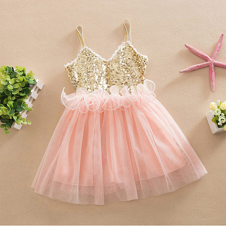 Girls Sequin Cami Dress
