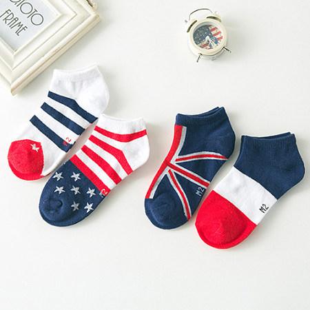 Stripe & Star 4 Pcs Ankle Socks