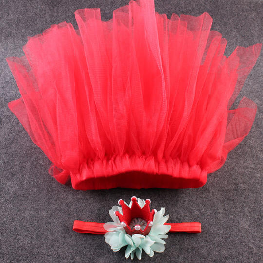 Princess Tutu Dress With Crown Hair Accessaries