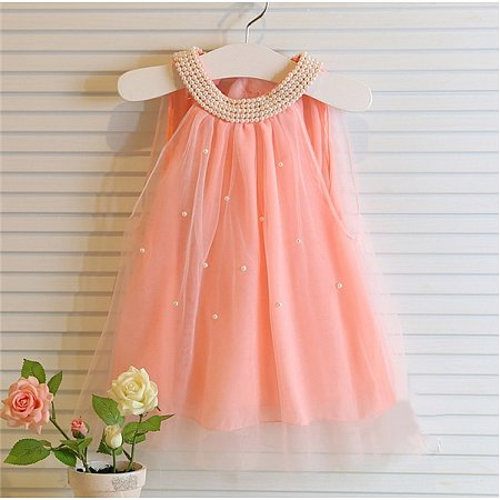 Beading Applique Princess Sleeveless Dress