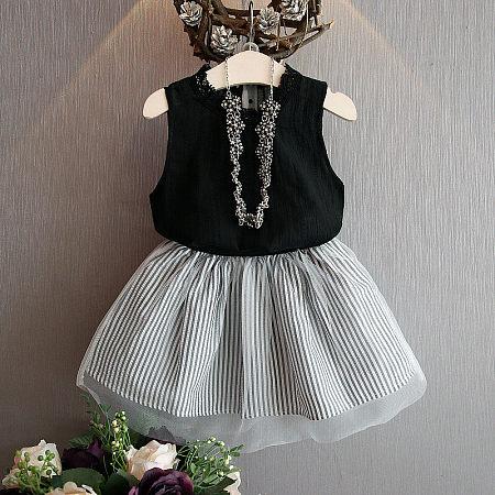 Tulle Stripe Dress Sets