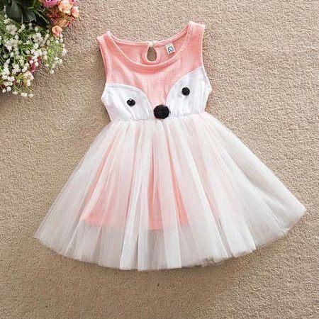 Cartoon Fox Tulle Dress