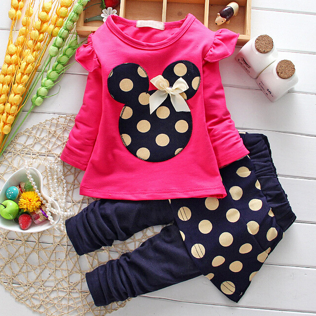 Girls Polka Dot Two Pieces Outfits