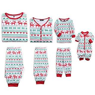 Reindeer Pattern Family Christmas Pajamas