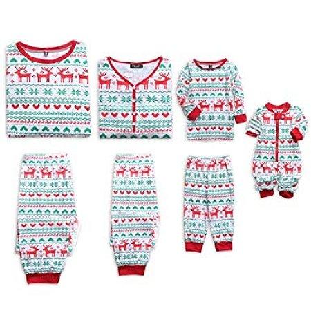 Reindeer Pattern Family Christmas Pajamas