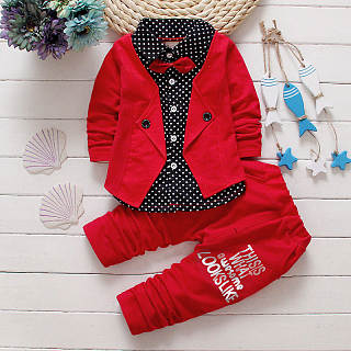 Handsome British Style Boys Two Pieces Set