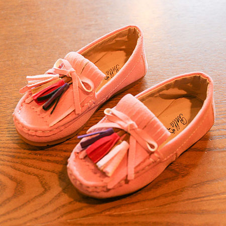 Colorful Tassles Soft Sole Girls Daily Shoes