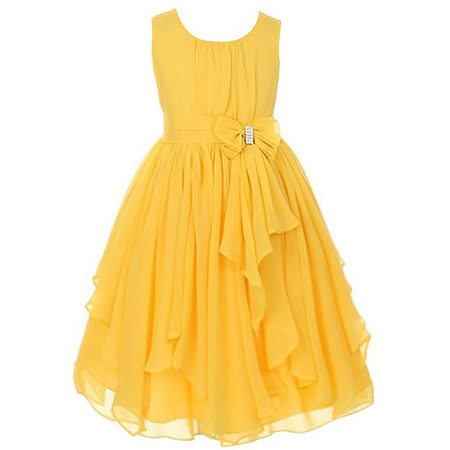 Several Colors Tulle Bowknot Girls Princess Formal Dress