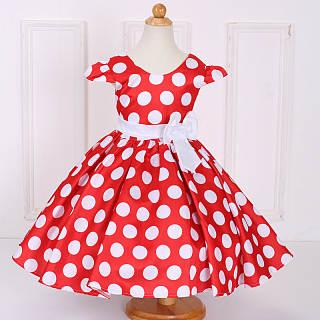 Polka Dots Bowknot Girls Summer Dress