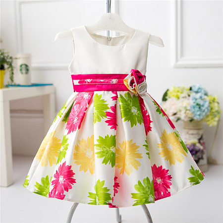 Floral Printed Baby Toddler Girls Summer Dress