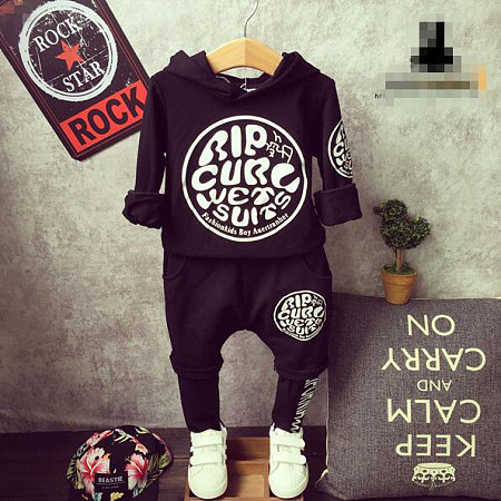 Boys Spring Autumn Sports Comfortable Two Pieces Set