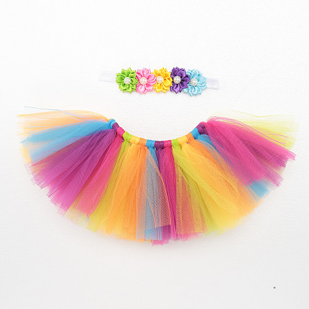 Baby Adorable Rainbow Color Tutu Dress Photo Prop