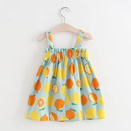 Fashion Lemon Printed Sling Dress, 8179973