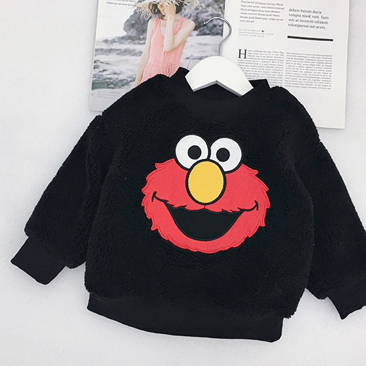 Nifty Casual Cartoon Print Thermal Woolen Long Sleeve Kids Top
