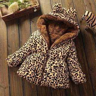 Nifty Sweet Casual Leopard Print Thermal Long Sleeve Outerwear