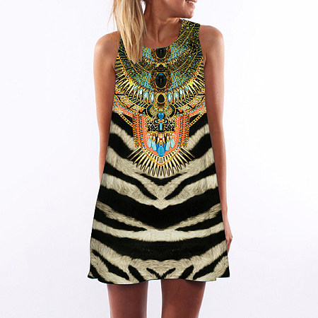Bohemian Style Color Block Dress