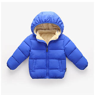 Solid Color Zipper Hooded Thick Coat