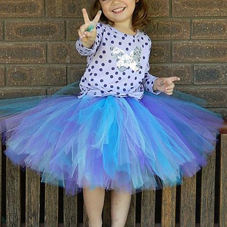Girl Hand-Woven Skirt Color Princess Tutu Skirt, 8178747