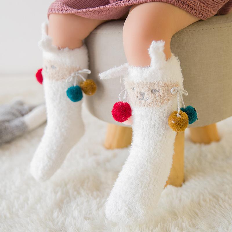 Thickened Plush Cartoon Socks