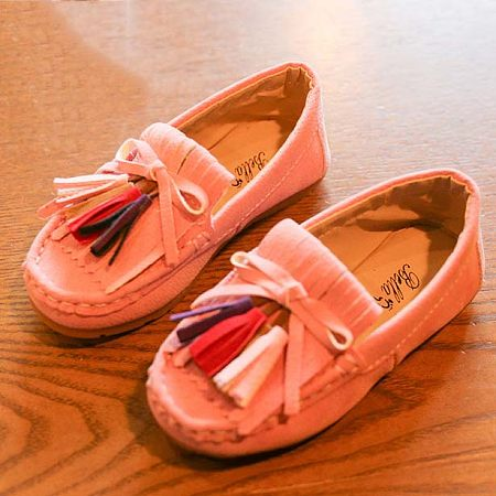 Girls Tassels Decorated Shoes