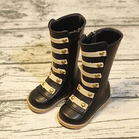 Zipper Rivet Plus Velvet Boots