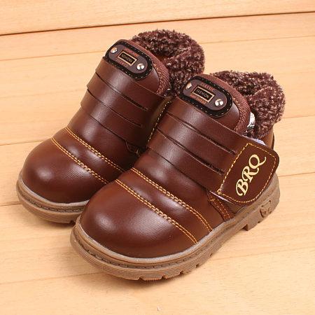 POPREAL / Letter Pattern Velvet Paste Snow Boots