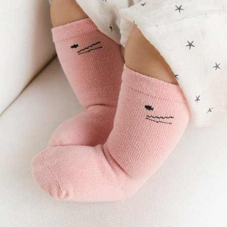 Girl Cartoon Pattern Cotton Socks By Three Pairs