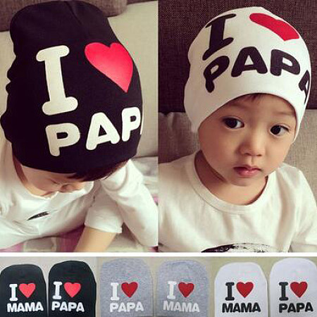 Letters Pattern Baby Cap