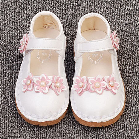 Beads Flower Decorated Velcro Shoes