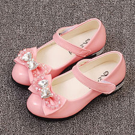Bowknot Decorated Velcro Shoes, pink, AL18032101