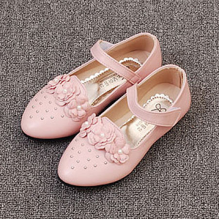 Beads Flower Decorated Velcro Shoes, pink, AL18032103