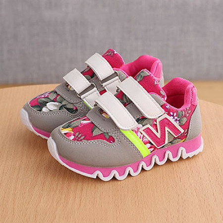 Velcro Botanical Prints Sports Shoes