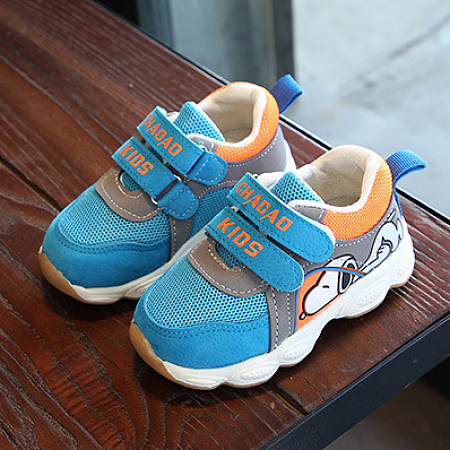 Velcro Cartoon Dog Pattern Breathable Sports Shoes