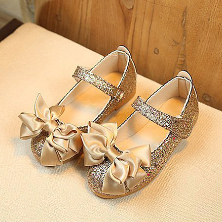 Velcro Bowknot Decorated Princess Shoes