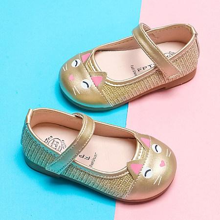 Velcro Cartoon Cat Pattern Shoes