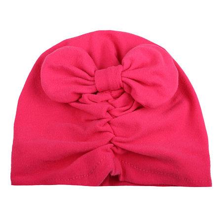 Cute Baby Bowknot Wrinkled Cap