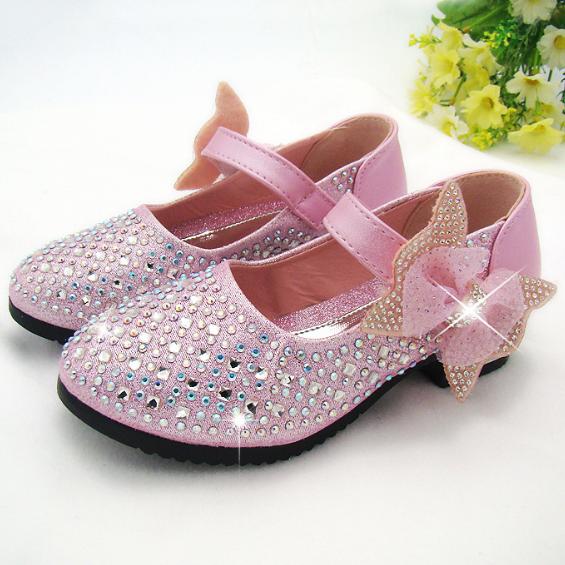 Bowknot Shining Rhinestone Shoes