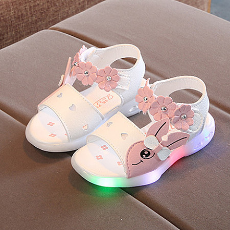 Bunny Pattern Flower Beads LED Sandals