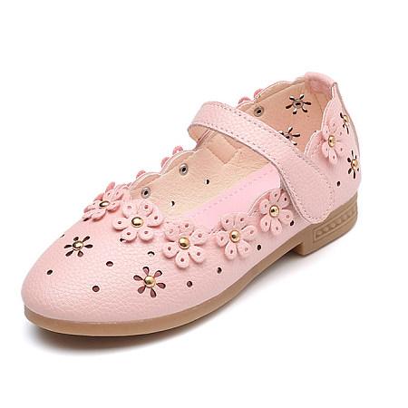 Girls Cute Flower Applique Shoes