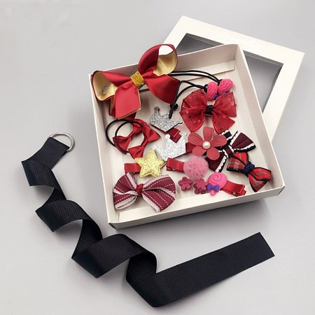 Sweet Hair Accessories Set With Box