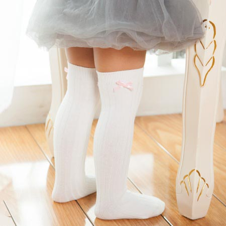 Lovely Bowknot Decorated Thigh High Socks
