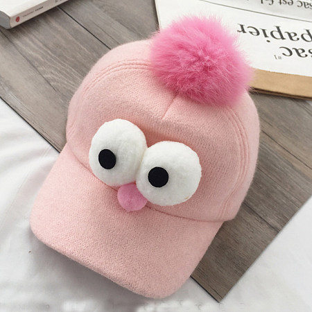 Adjustable Cartoon Eyes Decorated Hat