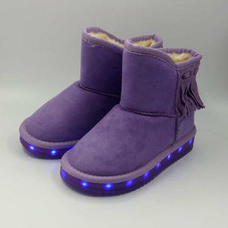 USB Charging LED Flashing Snow Boots
