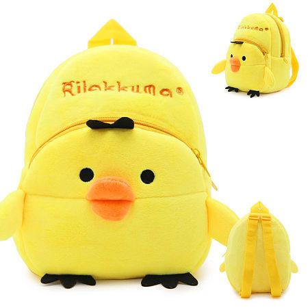 Plush Cartoon Yellow Chick Backpack
