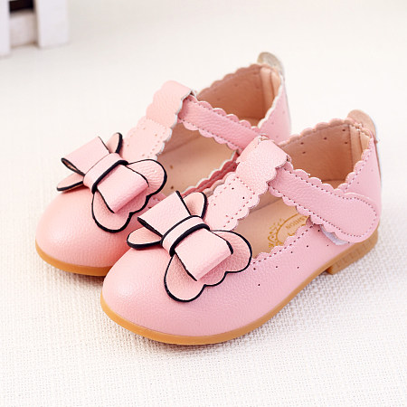 Spring Autumn Bowknot Girls Princess Daily Shoes