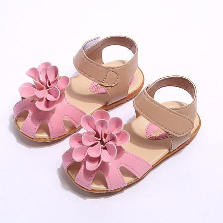 Flower Anti-Slippery Girls Summer Shoes